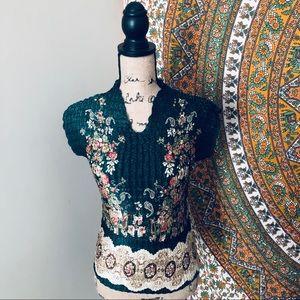 Vintage scrunchie top